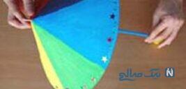 آموزش ساخت چتر رنگی زیبا با وسایل ساده +تصاویر