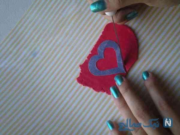 ساخت گوشواره قلبی