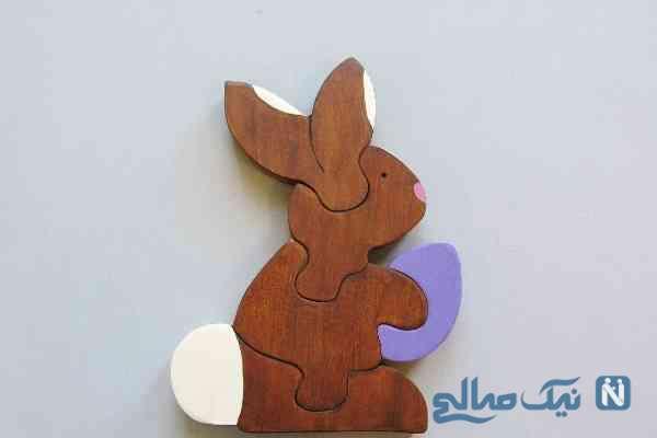 پازل خرگوشی بسیار جالب با چوب بسازید/ آموزش ساخت+تصاویر