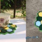 آموزش ساخت کاردستی زیر لیوانی متفاوت و زیبا با وسایل ساده+تصاویر
