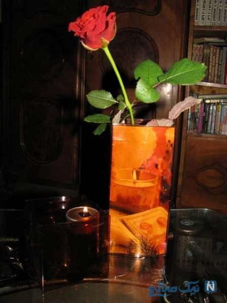 ساخت گلدان با بطری
