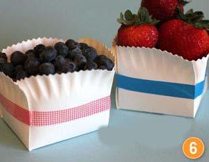 آموزش ساخت یک ظرف میوه فانتزی با بشقاب یکبار مصرف +تصاویر