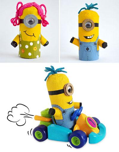 آموزش ساخت عروسک مینیون بسیار دوست داشتنی با دستمال کاغذی+تصاویر