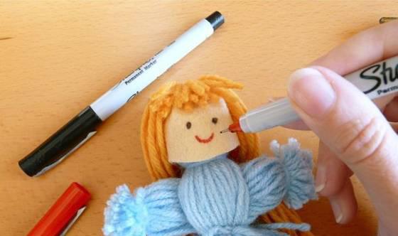 کاردستی عروسک بافتنی زیبا بدون بافتن+ تصاویر