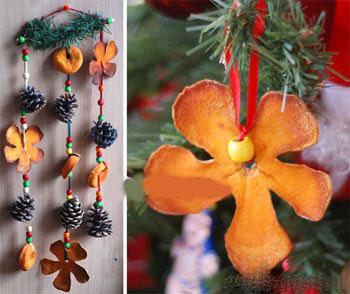 آموزش ساخت آویز بسیار ساده و جالب با پوست پرتقال+تصاویر