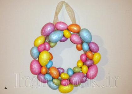 ساخت کاردستی حلقه تخم مرغ رنگی + تصاویر