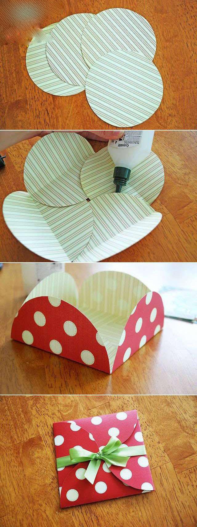به راحتی پاکت هدیه بسیار شیک و متفاوت درست کنید+تصاویر