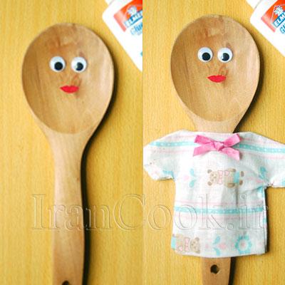 ساخت کاردستی عروسک چوبی + تصاویر