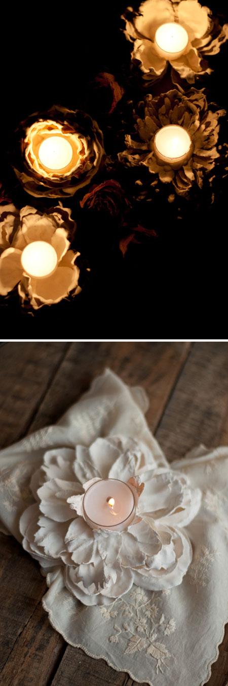 ساخت جاشمعی گل بسیار ساده با مواد دور ریختنی +تصاویر