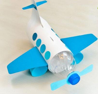 آموزش ساخت هواپیما بسیار ساده و زیبا با بطری نوشابه+تصاویر