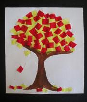 ساخت کاردستی درخت پاییزی + تصاویر