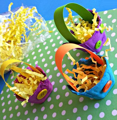 آموزش ساخت کاردستی سبد بسیار زیبا با شانه تخم مرغ+تصاویر