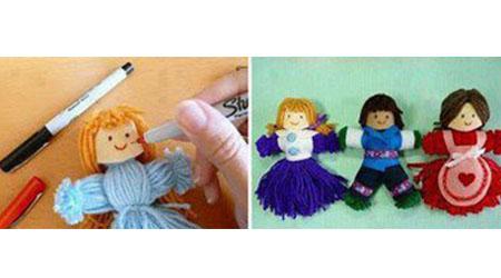 آموزش درست کردن عروسک کاموایی با روشی بسیار ساده +تصاویر