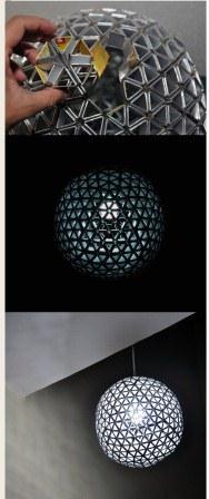 با پاکتهای شیردور ریختنی لامپهای تزئینی بسیار زیبا بسازید+تصاویر