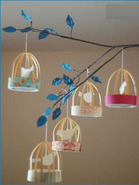 آموزش ساخت پرنده در قفس کاردستی بسیار زیبا برای کودکان+ تصاویر