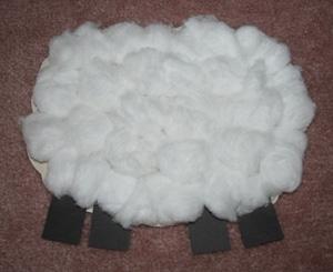 آموزش ساخت کاردستی گوسفند با وسایل بسیار ساده+تصاویر