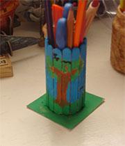 ساخت کاردستی جامدادی چوبی + تصاویر