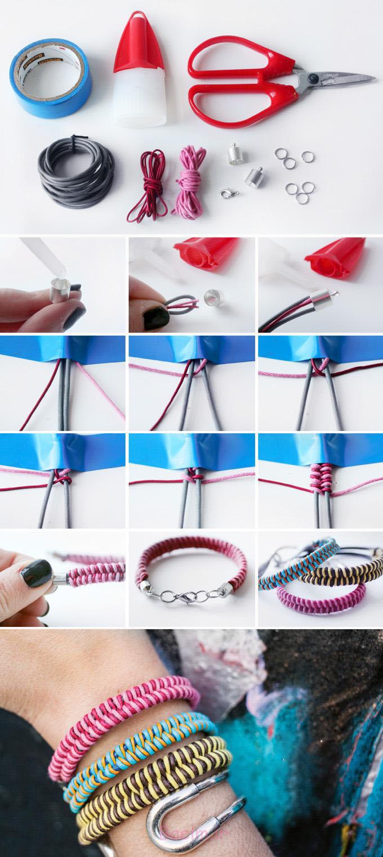 آموزش ساخت دستبند اسپرت بسیار زیبا با روشی ساده / از کار خودتان لذت ببرید+تصاویر