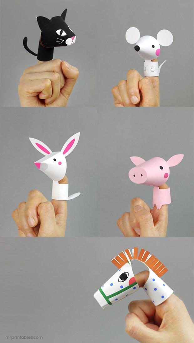 آموزش ساخت کاردستی حیوانات بند انگشتی بسیار دوست داشتنی+تصاویر