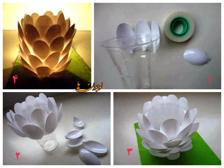 ساخت کاردستی شمعدان به شکل میوه کاج + تصاویر