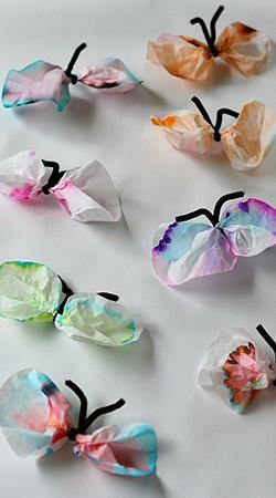 با وسایل ساده کاردستی پروانه های رنگی زیبا بسازید+تصاویر