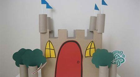آموزش ساخت کاردستی قلعه با وسایل دور ریختنی و ساده+تصاویر