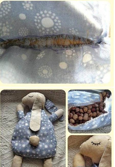 آموزش ساخت عروسک پارچه ای بسیار زیبا با شکم شکلاتی+تصاویر