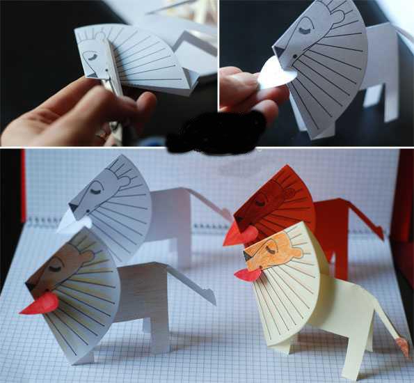 آموزش ساخت کاردستی شیر کاغذی بسیار ساده و جالب+تصاویر