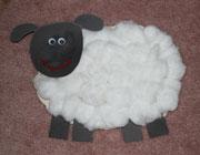 ساخت کاردستی گوسفند پنبه ای + تصاویر