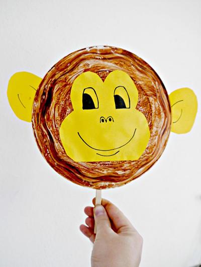 آموزش درست کردن میمون با بشقاب یکبار مصرف +تصاویر