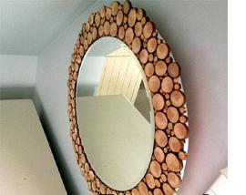 آینه ها را با چوب درخت زیبا و جذاب کنید+تصاویر