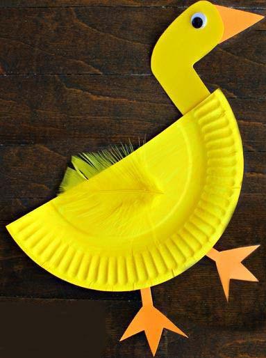 آموزش ساخت مرغابی بسیار ساده با بشقاب یکبارمصرف+تصاویر