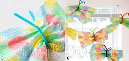 آموزش ساخت پروانه کاغذی + تصاویر