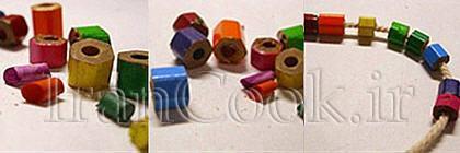 ساخت کاردستی دستبند مداد رنگی + تصاویر