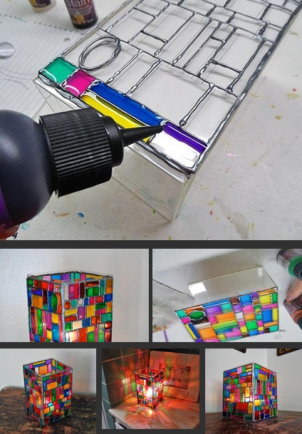 ساخت کاردستی چراغی زیبا + تصاویر