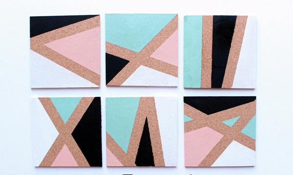 آموزش ساخت زیر لیوانی رنگی بسیار شیک و زیبا با روشی ساده +تصاویر