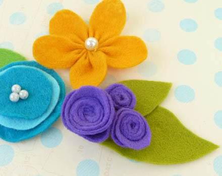 آموزش ساخت گل های نمدی بسیار زیبا با روشی ساده+تصاویر