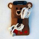 جاموبایلی خرسی بسیار زیبا با پارچه نمدی و روش ساده بسازید+تصاویر
