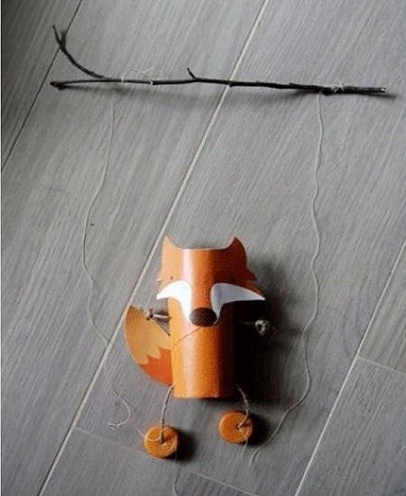 روباه کاغذی نخی بسیار جالب و زیبا با وسایل ساده درست کنید تصاویر
