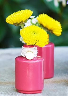 کاردستی گلدان ریز و بسیار زیبا با وسایل دوریختی +تصاویر