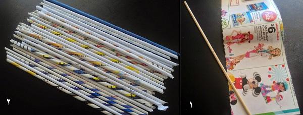 سبد کاغذی زیبا و کاربردی با وسایل دورریختنی و ساده بسازید تصاویر