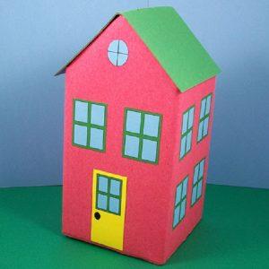 خانه پاکتی کاردستی بسیار جالب برای کودکان دوست داشتنی+تصاویر
