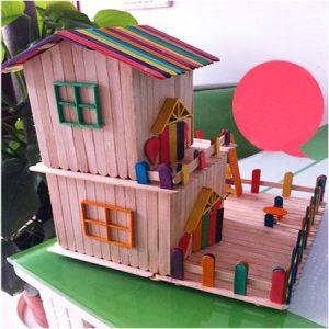 آموزش زیبا و راحت ساخت کاردستی با چوب بستنی برای کوچولوها + تصویر