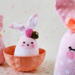 کاردستی خرگوش جورابی از زیبا ترین کاردستی های کودکانه + تصویر