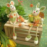 آموزش کاردستی خرگوش باغبون بسیار زیبا با خمیر چینی + تصویر