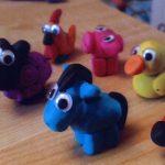 کاردستی حیوانات با خمیر بازی ایده ای جالب برای کودکان + تصویر