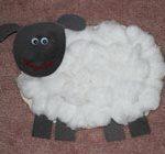 آموزش کاردستی گوسفند پنبهای کاری بسیار زیبا برای کودکان + تصاویر
