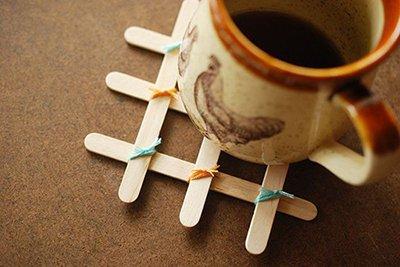 کاردستی های با چوب بستنی و کاموا