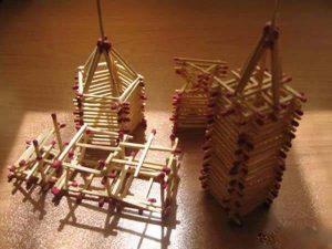 ساخت کاردستی با چوب کبریت با طرح ها وایده های جدید + تصاویر