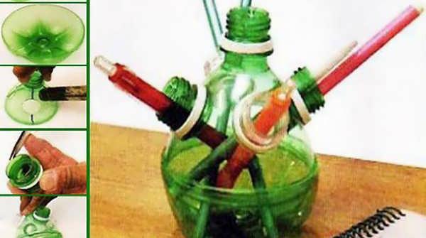 ساخت کاردستی با بطری